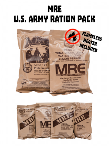 MRE - US army food ration pack