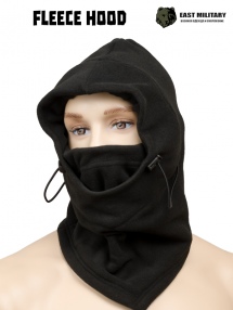 Fleece hood, black