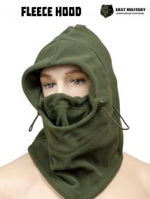 Fleece hood, olive