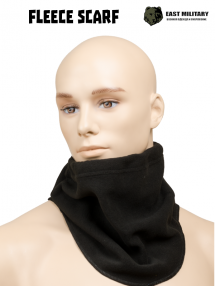 Fleece scarf, black
