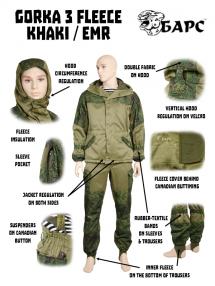 Gorka 3 FLIS, khaki / EMR