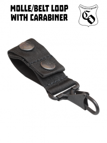 Belt loop with carabiner, black