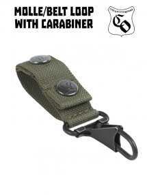 Belt loop with carabiner, olive