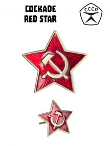 Cockade, red star