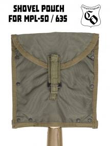 Pouch for small infantry shovel, olive