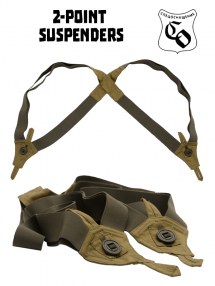 Suspenders, olive
