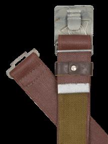 Soviet belt, burgundy/galvanized