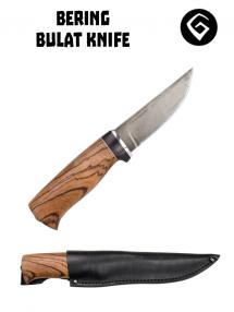 Bulatný nôž Bering, Bulat / zebrawood