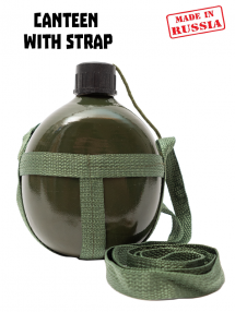 Canteen with strap, olive