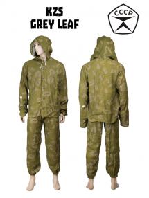 KZS suit, grey leaf