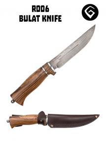 Bulatný nôž R006, Bulat / zebrawood