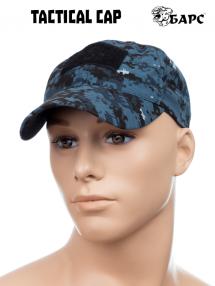 Tactical baseball cap, blue pixel