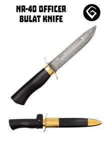 Nôž dôstojnícky NR-40, Bulat / hráb / pozlátený